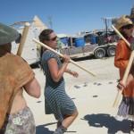 Morris dance at Burning Man, 2011