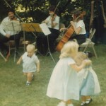 Early dancing with my cousins (I'm in the blue frock with the black shoes)